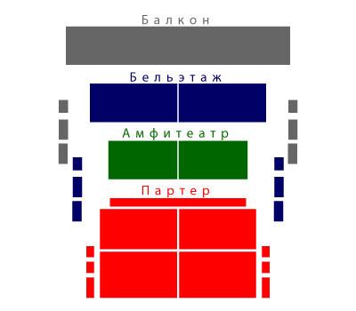 """Цены билетов Тарик Эль-Нуджум на 2013 год.  Амфитеатр.  Схема зала  """"Дворца на яузе """"."""